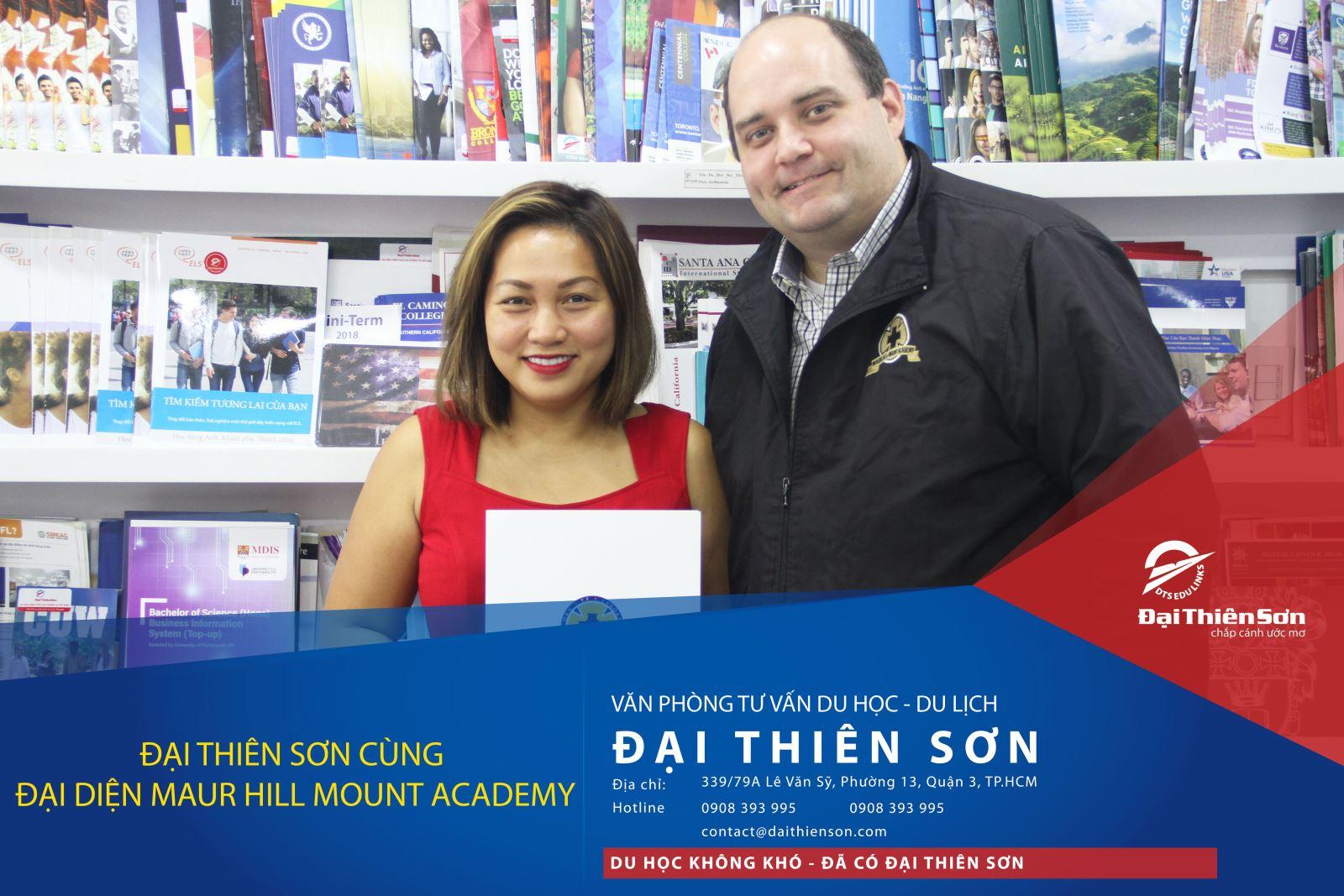 Giám đốc Đại Thiên Sơn cùng đại diện trường Maur Hill Mount Academy