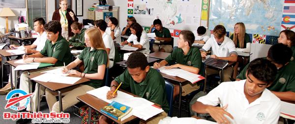 Lớp học tại Florida Preparatory Academy - Du học Đại Thiên Sơn DTS