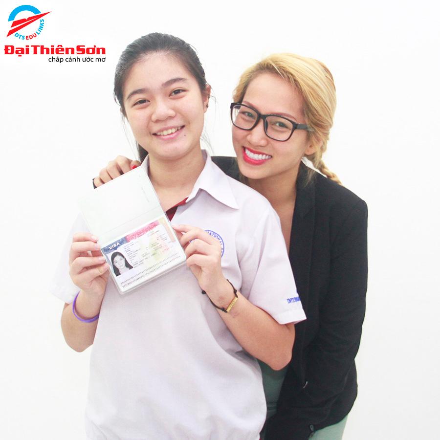 Cựu học sinh nhận visa du học Mỹ thành công
