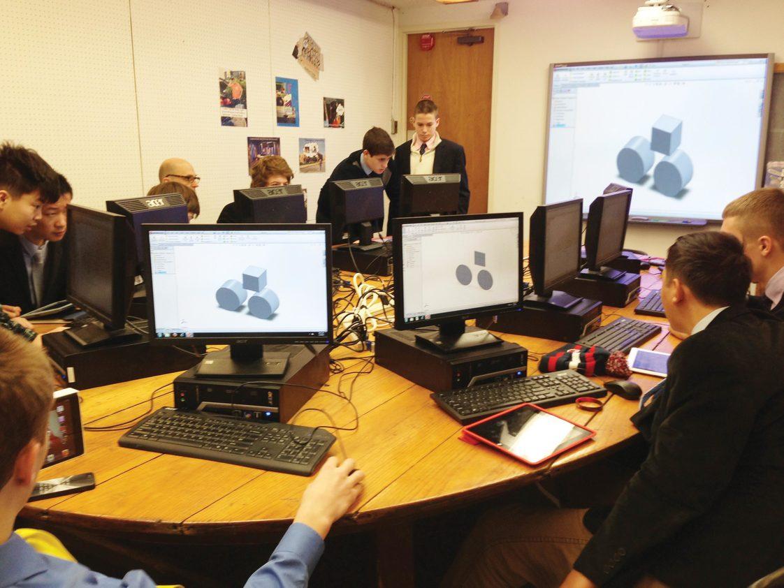 Phòng máy học thiết kế cho học sinhSouth Kent School